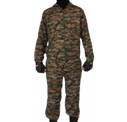 KLM Sniper US digital Camo uniform on zipper MARPAT pattern