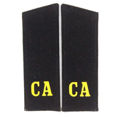 Russian black shoulder boards CA Soviet Army for Artilery & Tank troops