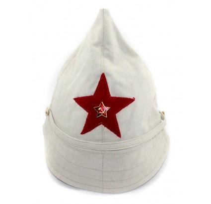 ソ連RKKAロシア軍ベージュBUDENOVKA綿の夏の帽子