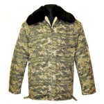 Ukrainian Military officer's winter warm camouflage jacket