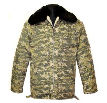 ウクライナ軍将校の冬暖かい迷彩ジャケット