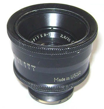 JUPITER-12 black lens for Fed Zorki Leica camera 2,8/35