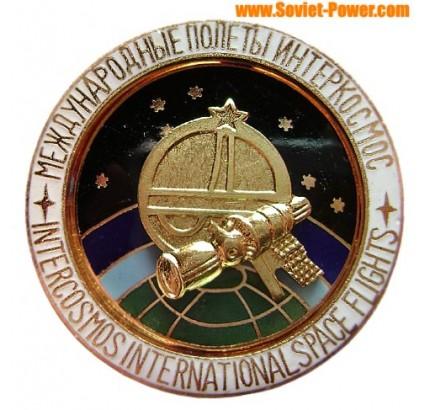 SPACE BADGE Intercosmos international space flights