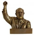 Busto di bronzo russo segretario sovietico Krusciov