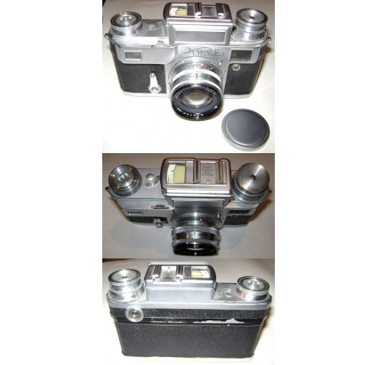 KIEV-3Aソビエトコンタックスコピー35 mmカメラ付きJUPITER 8 M