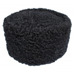 Colbacco di astrakan nero cappello di pelliccia di inverno russo Papaha