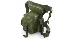 Tactical leg bag for travel / hiking Russian digital camo