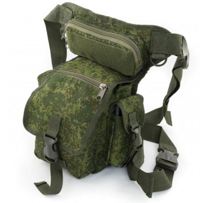 Tactical leg bag for travel / hiking Russian digital camo