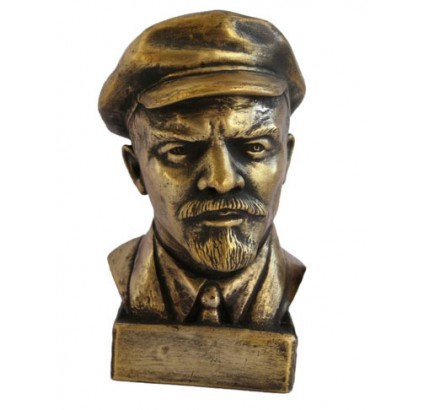 Russian bronze Soviet Communist bust of Lenin