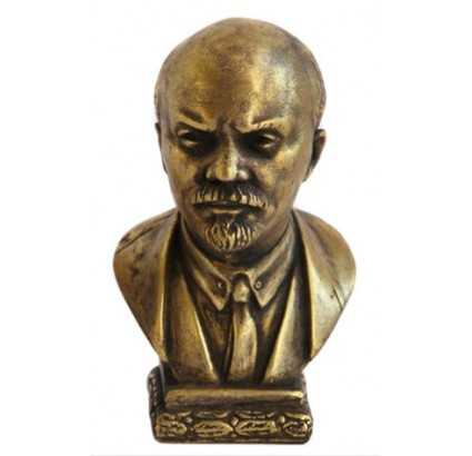 Bronze bust of russian communist revolutionary Lenin aka Vladimir Ilyich Ulyanov