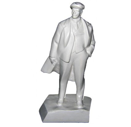 Miniature white bust of russian communist revolutionary Vladimir Ilyich Ulyanov (aka Lenin).