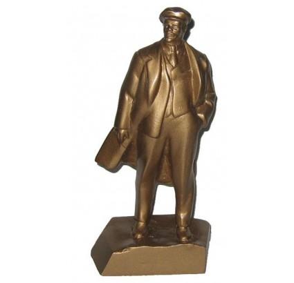 Busto in miniatura dorato del rivoluzionario comunista russo Vladimir Ilyich Ulyanov (noto anche come Lenin).