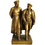 ロシア・ブロンズソビエトのジェルジンスキー&レーニンのバスト