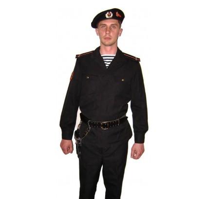 Soviétique MARINES Armée / russe uniforme militaire noir