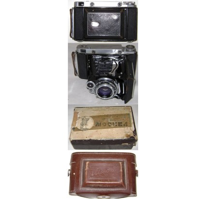 MOSKVA 5 Russian AGFA copy rare folding 6X9 camera