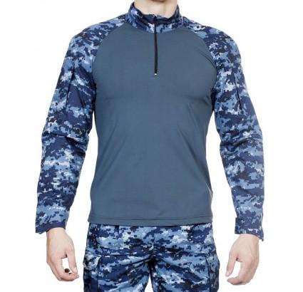 Camisa azul táctica rusa del camuflaje de Digitaces