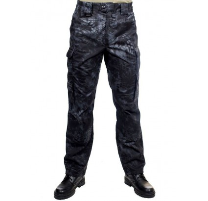 Tactical camo trousers PYTHON black military pants