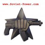 Insignia militar rusa SPETSNAZ con pistola