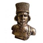 Nestor MAKHNO Ukrainian Cossack bronze bust