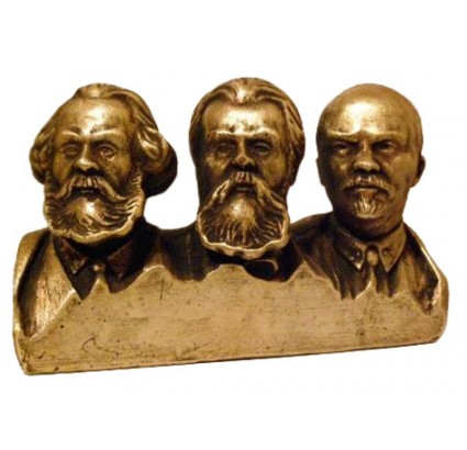 Famous people - Marx, Engels and Lenin bronze bust