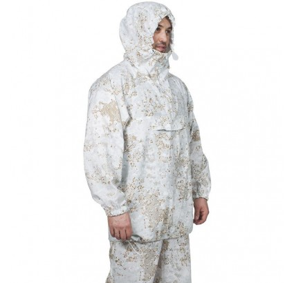 Invierno traje de enmascarar para el francotirador MPA-43 camo blanco nieve
