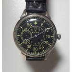 Black dial Pilot TRANSPARENT Russian wristwatch MOLNIYA