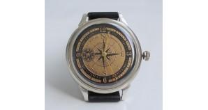 Soviet NORTH POLE 1977 ARCTIC wristwatch MOLNIYA 18 Jewels