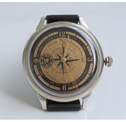 Soviet NORTH POLE 1977 ARCTIC wristwatch MOLNIYA 18 Jewels
