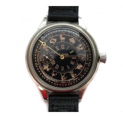 Russian wrist watch MOLNIJA with ZODIAC Signs 18 Jewels
