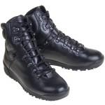 Schwarzes Leder-Angriff Stiefel städtischen Typ Mungo 24111