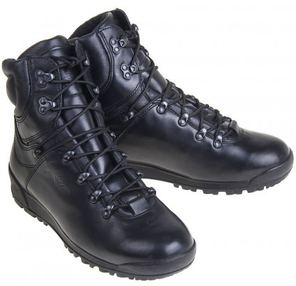 Black leather Assault boots URBAN type MONGOOSE 24111