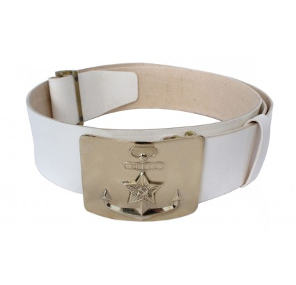 Soviet Seaman PARADE white navy belt