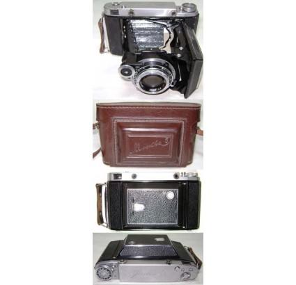MOSKVA 5 soviética AGFA copia plegable 6X9 / 6X6 cámara 1959