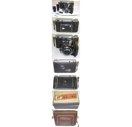 MOSKVA 5 vecchio kit per fotocamera pieghevole russo 6x9
