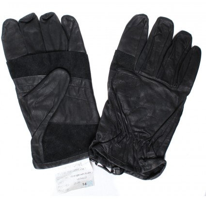 Russian tactical mountain climbing gloves black leather