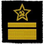 SOVIET FLEET RUSSIAN NAVY 2 HIGH RANK OFFICERS SHOULDER PATCHES