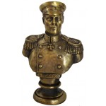 Busto de bronce soviético del almirante imperial ruso Nakhimov