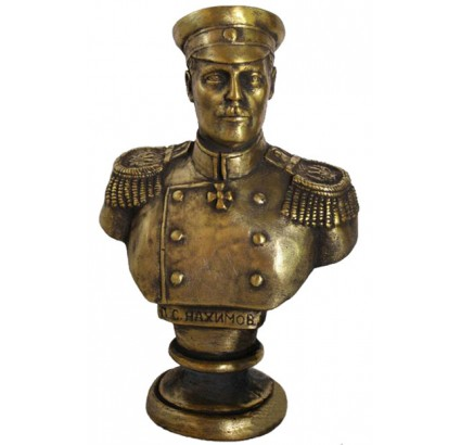 Soviet bronze bust of Russian imperial Admiral Nakhimov