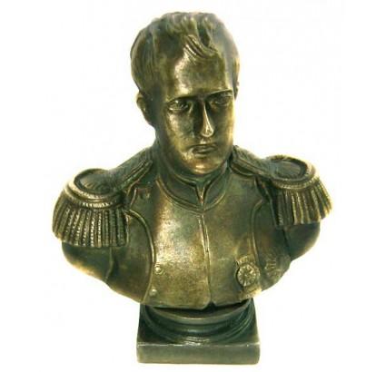 "Soviet Bronze Figurine ""Napoleon Bust"""