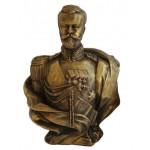 Soviet bronze bust of Nicholas II Emperor of Russia