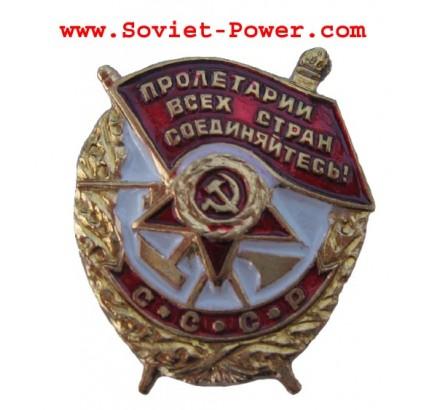 ORDINE del lavoro in miniatura RED BANNER Soviet Award URSS