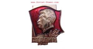Soviet BADGE with STALIN Communist badges USSR