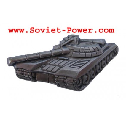 Soviet TANK FORCES Badge silver Military USSR Tank T-80