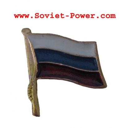 Russian Federation SOUVENIR FLAG Metal Badge Russia RF