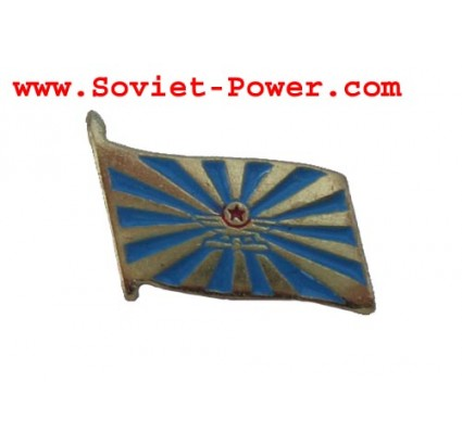 Soviet Military AIR FORCE FLAG Metal Badge USSR Army