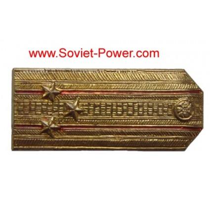 Soviet COLONEL SHOULDER BOARDS Metal BADGE of USSR Army