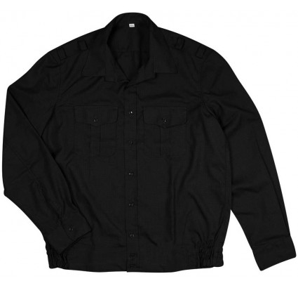 Russian Navy Fleet office ripstop black shirt long sleeves