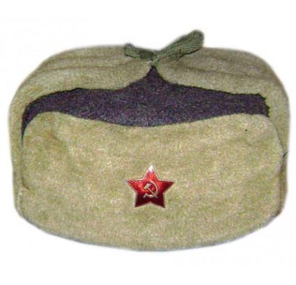 Authentic rare WW2 Soviet Officers Ushanka hat