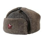 Vecchio autentico Ushanka cappello dell'esercito russo tipo WWII