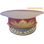 Ucraina esercito parata cappello bianco pouf visiera
